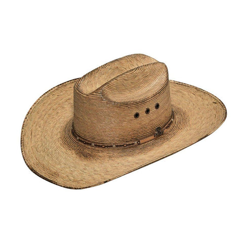 Men's Fired Palm SS Crown & Brim Copper Eyelet Western Hat