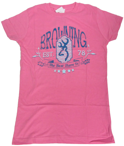 Browning Women's Chevron Crest Fitted Tee Shirt - BRD4115.068