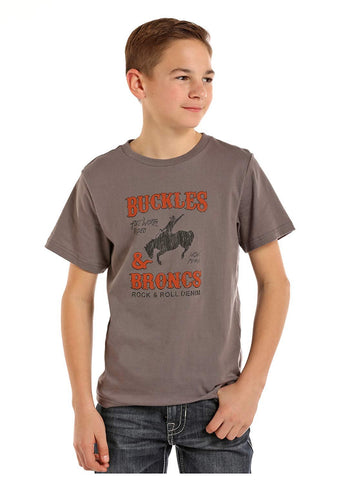 Rock & Roll Cowboy Boys Grey Tee