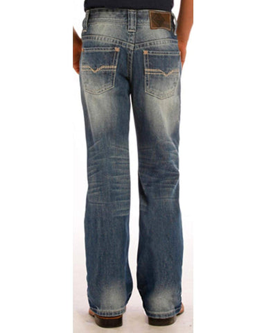 Rock And Roll Cowboy Boys BB Med Wash Jeans 7 Denim