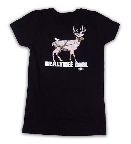 Realtree Girl's AP Whitetail Deer Fitted Tee Shirt - RTG4063