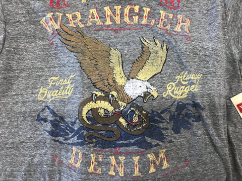 Wrangler Grey Eagle Denim Tee Shirt - WR7354