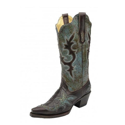 Women's Patch Snip Toe Cowgirl Boots - R1178