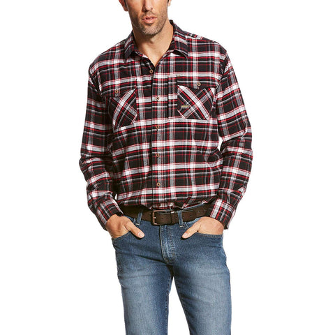 Ariat Men's Rebar Flannel Long Sleeve Work Shirt, 3X - 10023904