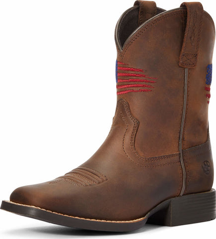 Ariat Youth Patriot Boot, Distressed Brown