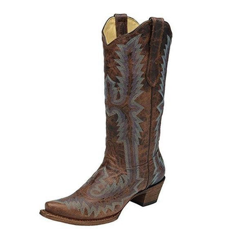 Women's Full Stitch Cowgirl Boot Snip Toe - A2902