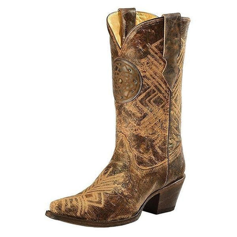 Women's Dreamcatcher Fringe Cowgirl Boot Snip Toe - R1359