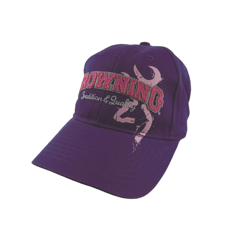 Browning Cap Tradition & Quality Purple Strapback - 308733661
