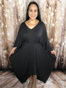 Sweep Me Away Dress Charcoal Sweetly Styled Market