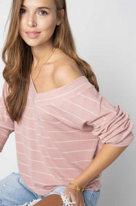 Subtly Sexy Long Sleeve Top Mauve - Sweetly Styled Market