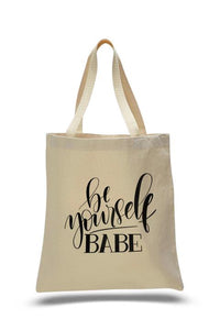 Be Yourself Babe Tote Bag Sweetly Styled Market
