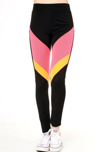 Mesh Color Block Active Yoga Pants - Sweetly Styled Market
