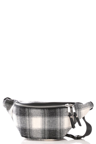 Plaid Release Buckle Fanny Pack