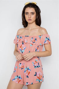 Coral Romper - Sweetly Styled Market