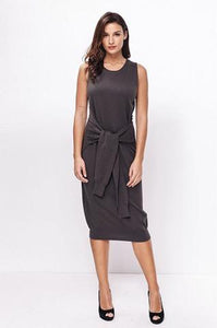 Wrap & Tie Sleeveless Earth Tone Sweater Dress - Sweetly Styled Market