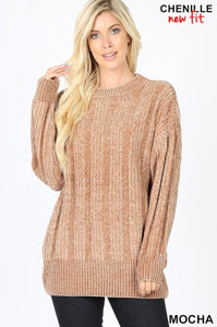 Soft Chenille Sweater Mocha
