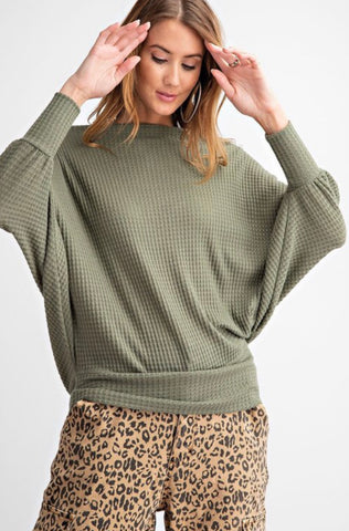 Effortless Long Sleeve Thermal Army Green