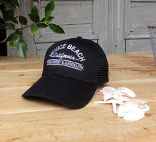 Load image into Gallery viewer, Venice Beach Trucker Hat in Black