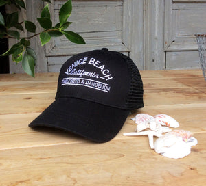 Venice Beach Trucker Hat in Black