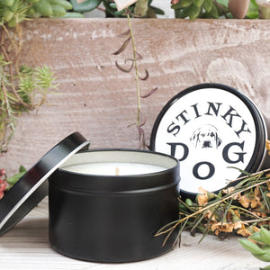 Stinky Dog Travel Tin Candle