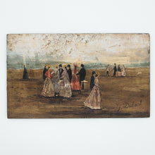 Load image into Gallery viewer, french vintage beach scene painting