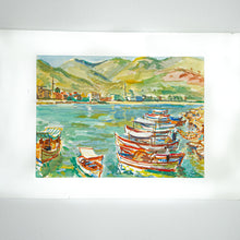 Load image into Gallery viewer, french boats watercolor maurice TISSEYRE