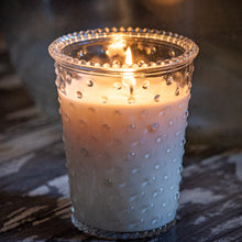 Load image into Gallery viewer, Large Hobnail Glass Candle