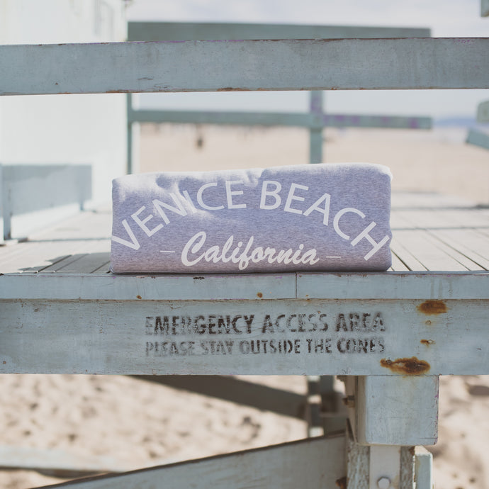 Venice beach sweatshirt blanket heather gray