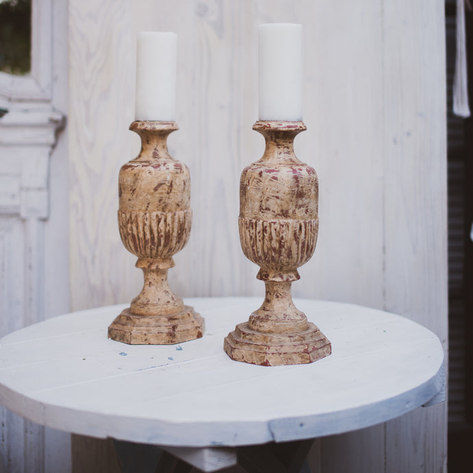 Large Pillar Candle Holders