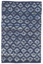 Load image into Gallery viewer, Denim Rag Diamond Woven Rug