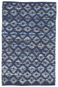 Denim Rag Diamond Woven Rug