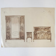 Load image into Gallery viewer, Vintage French Bedroom Set Print