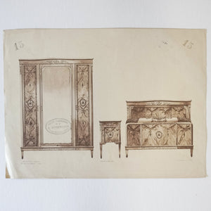 Vintage French Bedroom Set Print