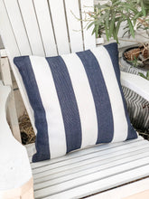 Load image into Gallery viewer, nautical stripe outdoor pillow