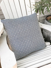 Load image into Gallery viewer, Crystal Navy/White Indoor/Outdoor Pillow