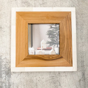Wood And Bone Photo Frames