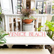 Load image into Gallery viewer, hand painted wood sign venice beach