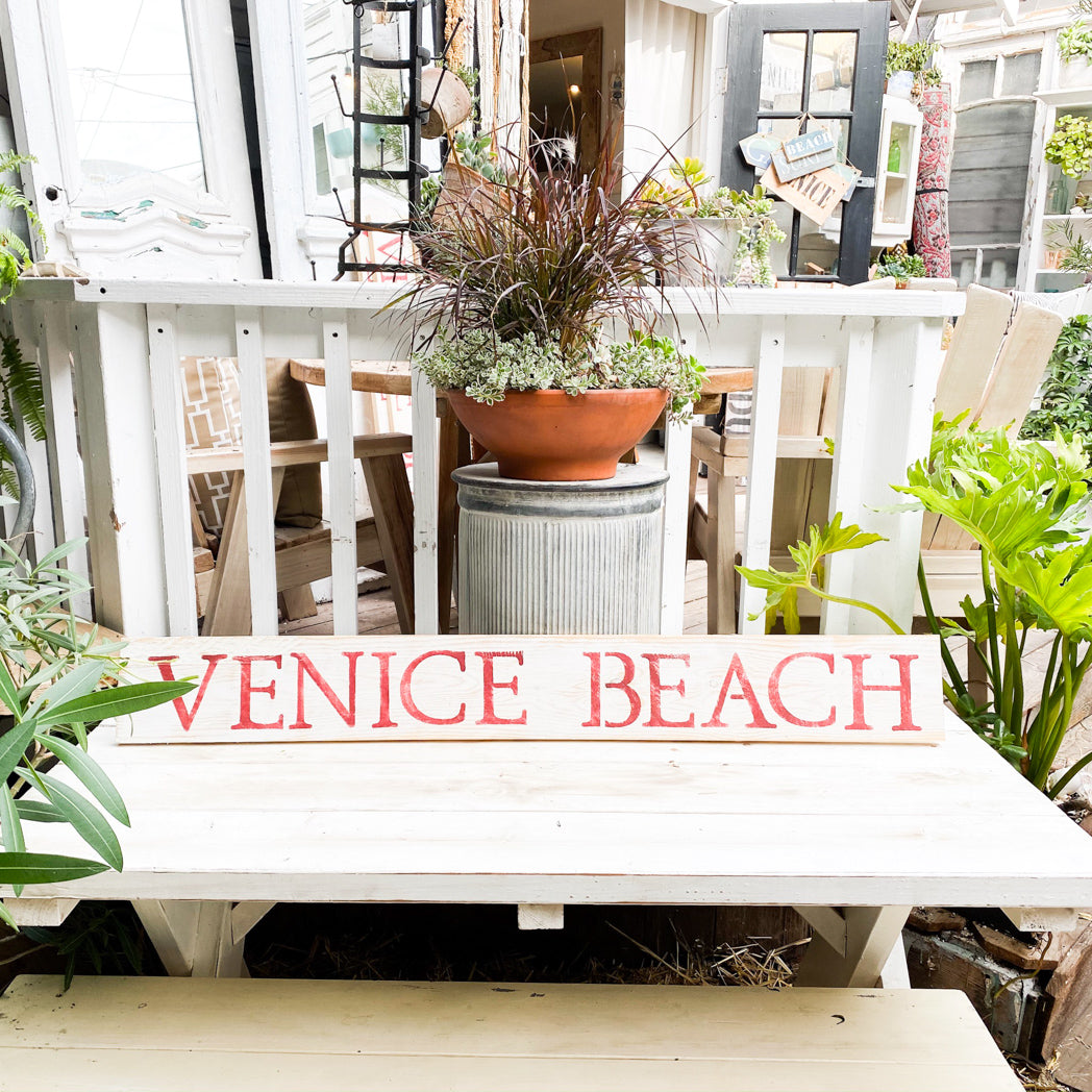 hand painted wood sign venice beach