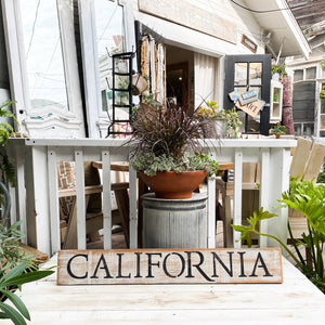 hand painted wood sign california