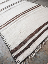 Load image into Gallery viewer, Hemp Kilim Rug Parallel Stripes