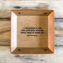Load image into Gallery viewer, handmade leather quote tray