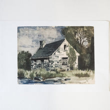 Load image into Gallery viewer, Stone Farmhouse Watercolor Print