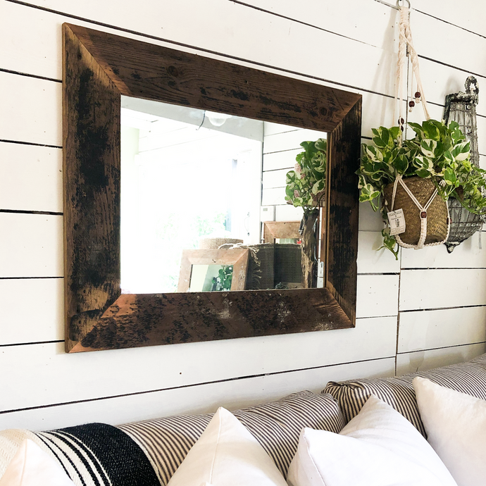 Reclaimed Wood Mirror - Medium