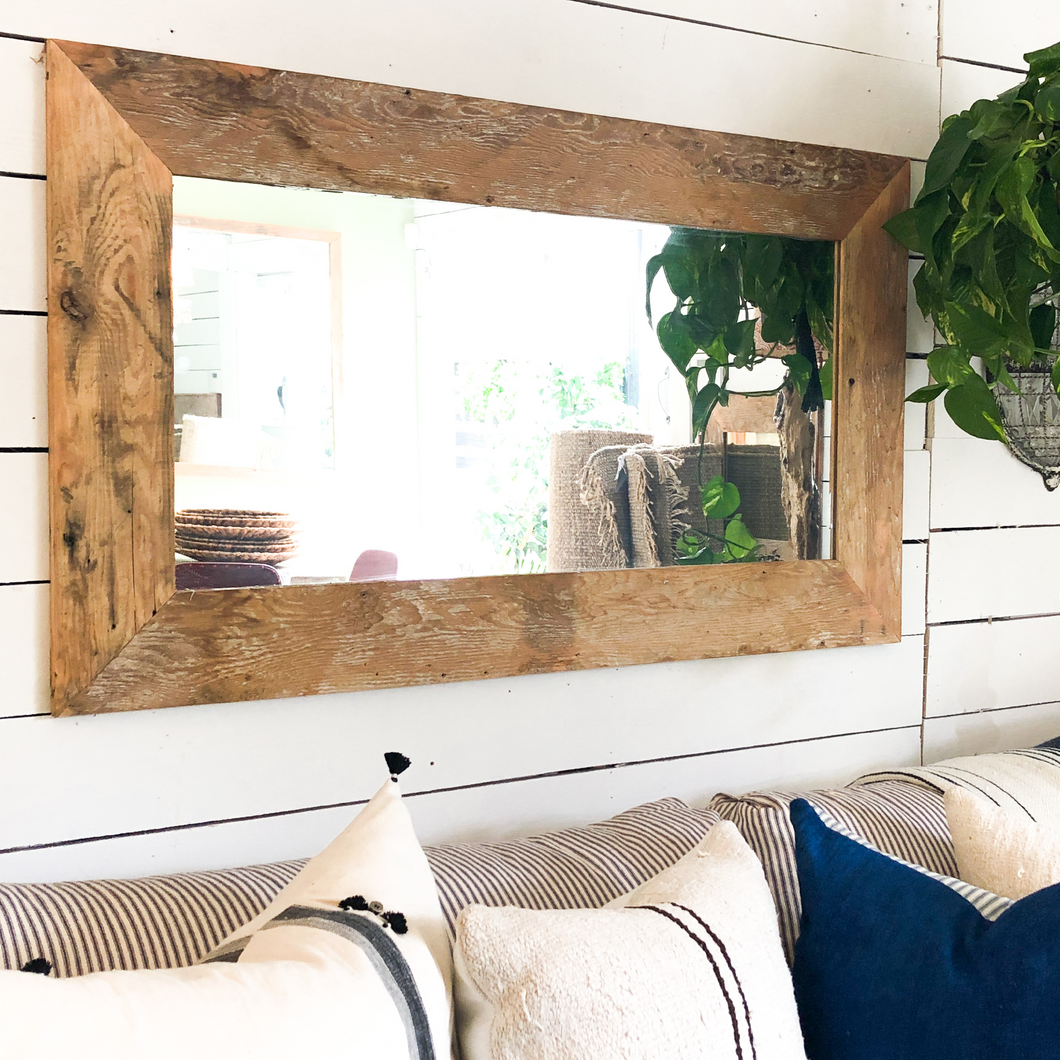 Reclaimed Wood Mirror - Large