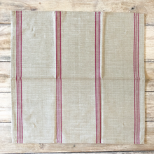 Load image into Gallery viewer, Cotton Napkin Red Stripe