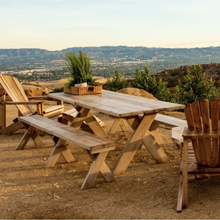 Load image into Gallery viewer, Distressed Redwood Picnic Table