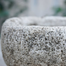 Load image into Gallery viewer, small concrete stone bowl planter three and a half inches tall