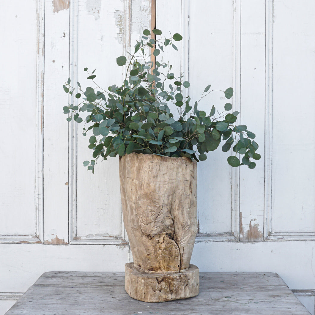 Rustic Tree Stump Planter #4