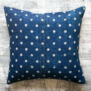 Spotted Blue Pillow