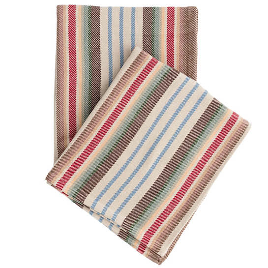 Ranch Stripe Woven Cotton Throw